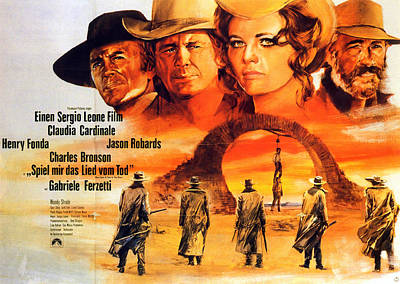 Royalty-Free and Rights-Managed Images - Once Upon a Time in the West, with Jason Robards, 1968 by Stars on Art