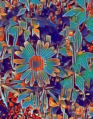 Digital Art - One Daisy Day by Jannett Prusik