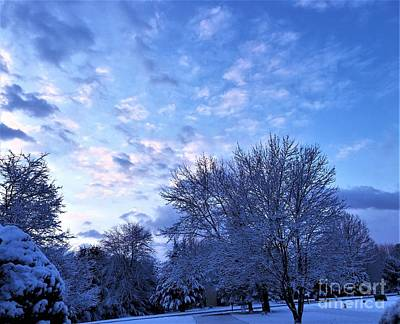 Airport Maps - One Early Winter Dawning In Frederick Maryland by Debra Lynch