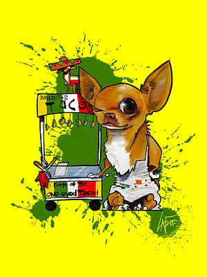 Royalty-Free and Rights-Managed Images - One-Eyed Tacos by Canine Caricatures Custom Merchandise