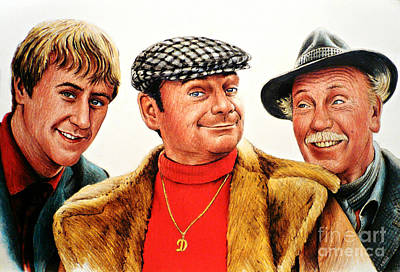 Animals Drawings - Only fools and horses by Andrew Read