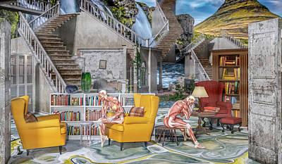 Surrealism Digital Art - Open Books by Betsy Knapp