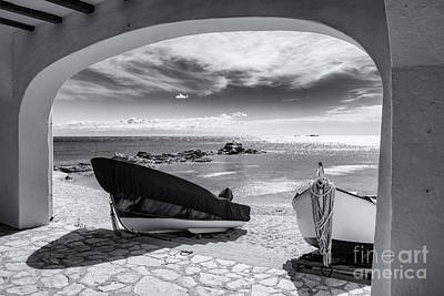Word Signs - Openwork fishing boats on the beach by Jordi Carrio Jamila