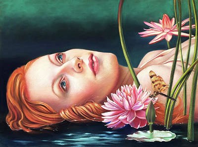 Pastel - Ophelia by Melanie Stimmell Van Latum