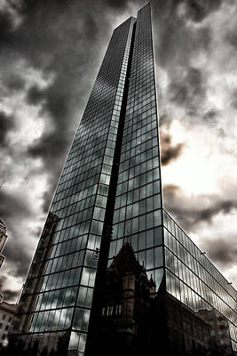 Surrealism Royalty-Free and Rights-Managed Images - Optical Illusion of Glass Tower Office Building in Boston Massachusetts by Dr Dapper