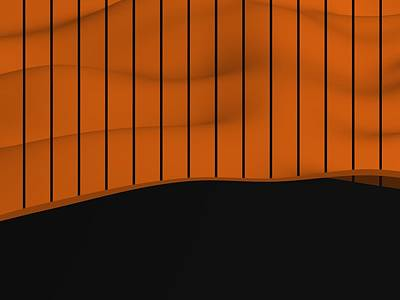 Sports Royalty-Free and Rights-Managed Images - Orange And Black Baseball Sportive Fashion by Alberto RuiZ