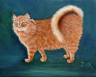 Just Desserts Rights Managed Images - Orange Ringtail Cat Royalty-Free Image by Karen Zuk Rosenblatt