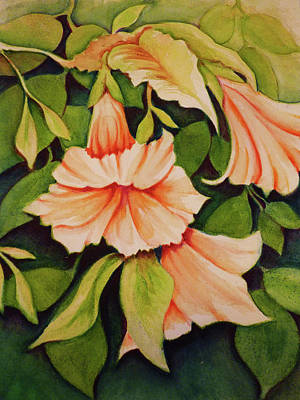 Soap Suds - Orange Trumpet Lilies by Carla Parris