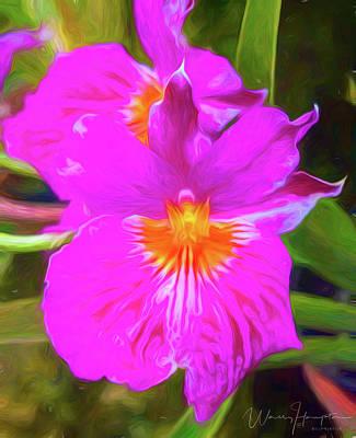 Digital Art - Orchid - 0005 by Wally Hampton