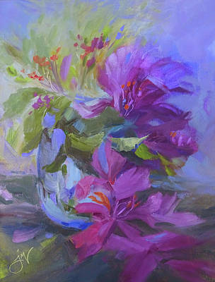 Painting - Orchid Party by Jeri McDonald
