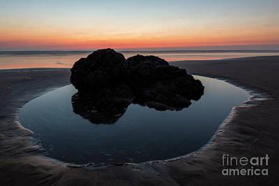 Monochrome Landscapes - Oregon Tidepool Dusk by Mike Dawson
