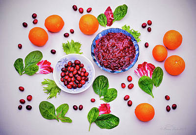 Still Life Royalty-Free and Rights-Managed Images - Organic Cranberries and Sauce by Brian Tada