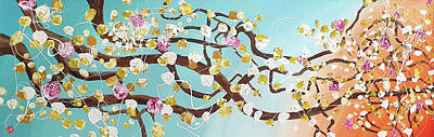Painting - Oriental Cherry Blossom by Martin Bush