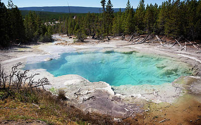 Whimsically Poetic Photographs Rights Managed Images - Orris Geyser Basin 1 Royalty-Free Image by Marilyn Hunt
