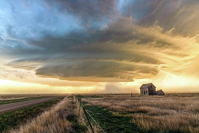 Royalty-Free and Rights-Managed Images - Otherworldly - Supercell Thunderstorm Over Abandoned House in Colorado by Southern Plains Photography