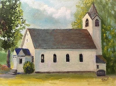 Painting - Ottenheim church by Roger Snell
