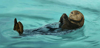 Painting - Otter Bliss by Jan Priddy