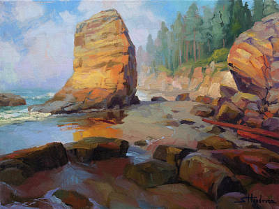 Royalty-Free and Rights-Managed Images - Otter Rock Beach by Steve Henderson