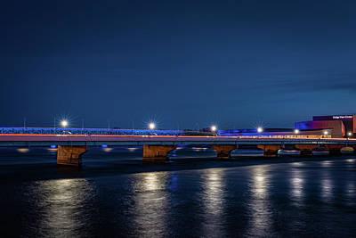 Photograph - Ottumwa Bridges by Mike Cox