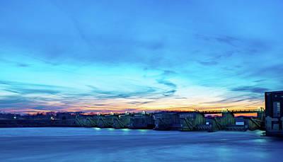 Photograph - Ottumwa Dam Sunset by Mike Cox