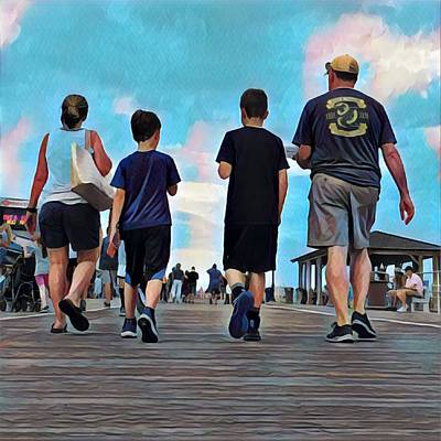 Surrealism Royalty-Free and Rights-Managed Images - Out for a Stroll by Surreal Jersey Shore