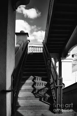 Comedian Drawings - Outdoor staircase at the Santa Ana, California train station. by Steve Cukrov