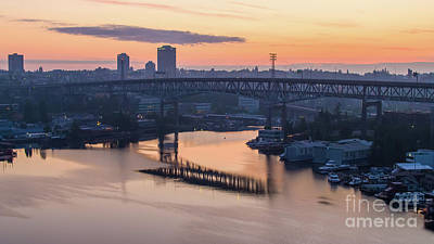 City Scenes - Over Seattle Lake Union Sunrise by Mike Reid