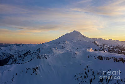 Royalty-Free and Rights-Managed Images - Over Table Mountain Snowscape Towards Mount Baker at Dusk by Mike Reid