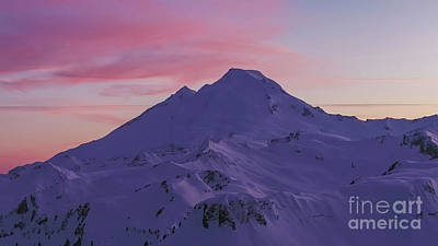 Royalty-Free and Rights-Managed Images - Over Table Mountain Towards Mount Baker Sunset Skies by Mike Reid