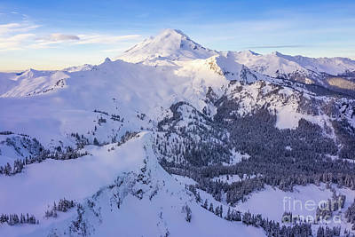 Royalty-Free and Rights-Managed Images - Over the North Cascades Mount Baker Snowscape by Mike Reid