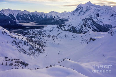 Royalty-Free and Rights-Managed Images - Over the North Cascades Towards Mount Shuksan by Mike Reid