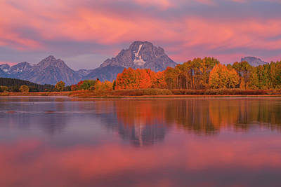 Royalty-Free and Rights-Managed Images - Ox Bow Bend at Sunrise by Joseph Rossbach