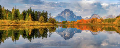 Royalty-Free and Rights-Managed Images - Oxbow Autumn Pano by Darren White