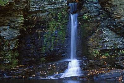 Polaroid Camera - PA Waterfalls Dingmans Creek by Blair Seitz