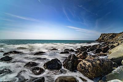 Caravaggio - Pacific Coast Rocks by Chm -