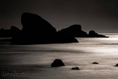 Photograph - Pacific Ocean Coastline, Oregon, USA - 8164 by Wally Hampton