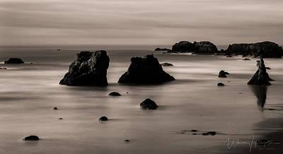 Photograph - Pacific Ocean Coastline, Oregon, USA - 8710 by Wally Hampton