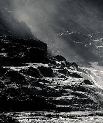Photograph - Pacific Ocean Coastline, Oregon, USA - 9173 by Wally Hampton