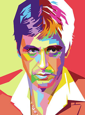 Royalty-Free and Rights-Managed Images - Pacino Wpap Pop Art by Ahmad Nusyirwan