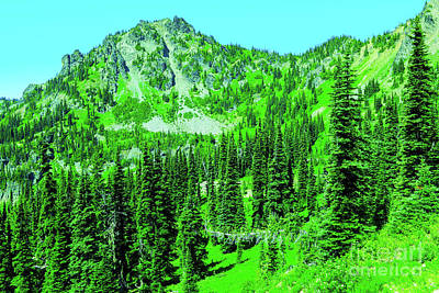 Royalty-Free and Rights-Managed Images - Pacific Crest trail near Snow Lake by Jeff Swan