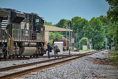 Stellar Interstellar Royalty Free Images - Paducah and Louisville Railway on WYX1 prepares to depart Royalty-Free Image by Jim Pearson
