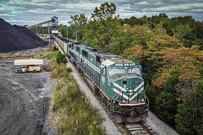 Rights Managed Images - Paducah and Louisville Railway PRX1 prepares to load its train Royalty-Free Image by Jim Pearson