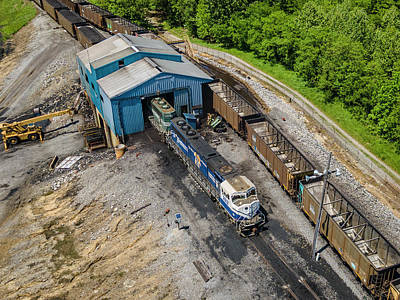 Royalty-Free and Rights-Managed Images - Paducah and Louisville Railway unloads at Calvert City Terminal Ky by Jim Pearson