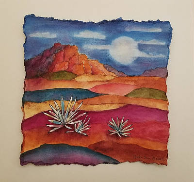 Mixed Media - Painted Desert by Terry Ann Morris