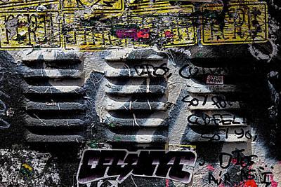 Mellow Yellow - Painted Metal - Detail of Graffiti by Robert Ullmann
