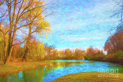 Classic Golf - Painting Spring in park by Helen Filatova
