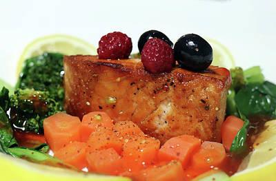 Pasta Al Dente - Pak Choi Salmon And Carrot by Johanna Hurmerinta