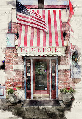 Photograph - Palace Hotel Port Townsend by Bud Simpson