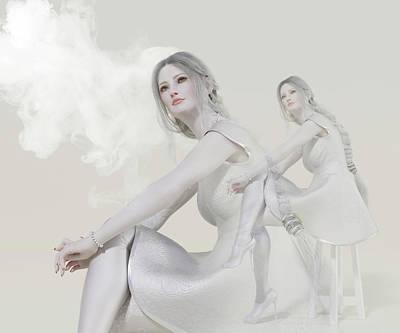 Surrealism Digital Art - Pale Portrait by Betsy Knapp