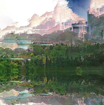 Digital Art - Palermo Afternoon Rain by Jenny Filipetti
